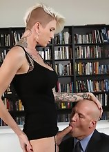 Danni's Business Meeting Turns into a Fucking & Cock Sucking Frenzy