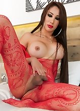 Hot latina Valentina Vasquez is a gorgeous tall sexy tgirl with an amazing body! Enjoy this hot Mexican beauty!