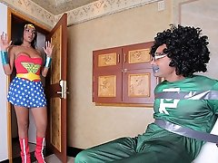 Sexy transsexual Michelly Cinturinha rescues Super Ramon and gets a hardcore pounding in return!