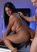 Ebony tgirl Paris getting examined by the doctor