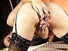 Gorgeous tgirl Jonelle toying while masturbating