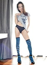 Ladyboy Lee - Blue Socks Rimming Creampie Ride